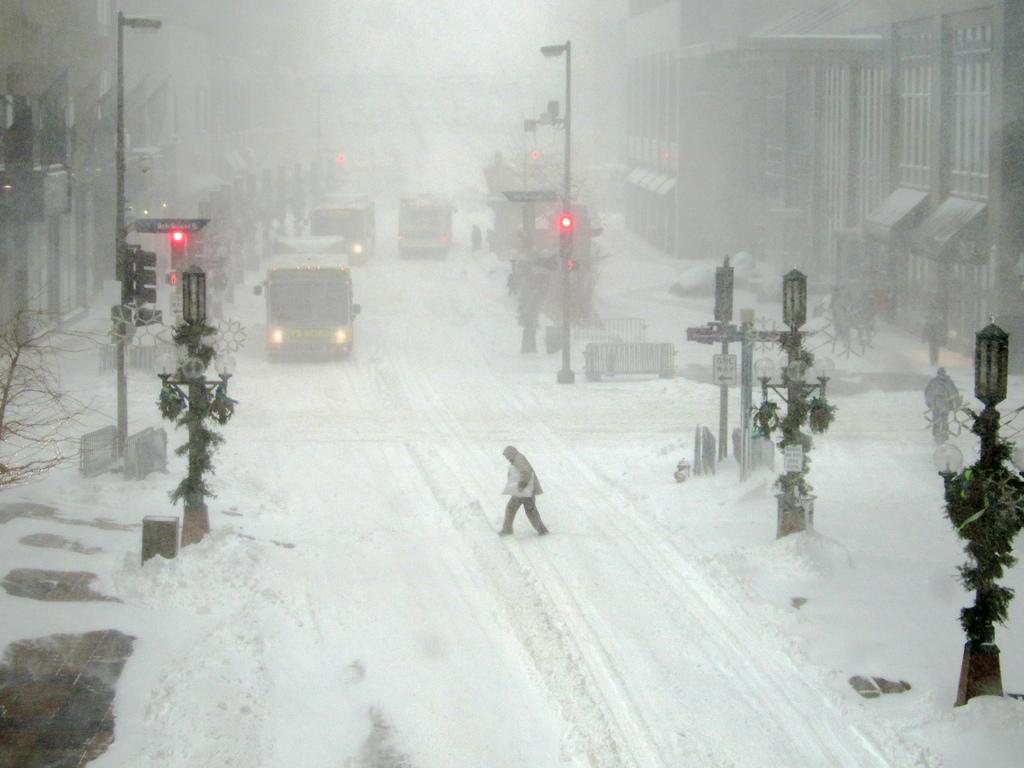 Snowy Nicollet Mall