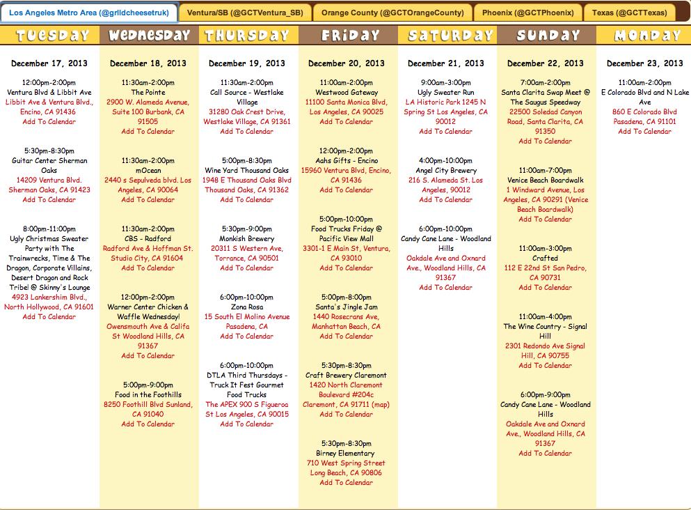 Website Calendar