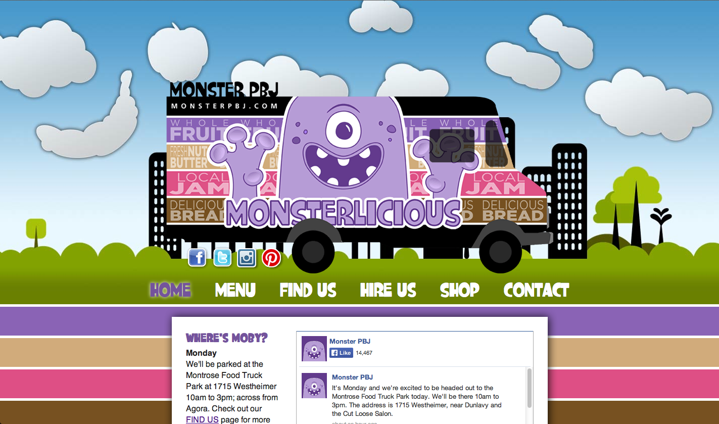 Monster PBJ Homepage