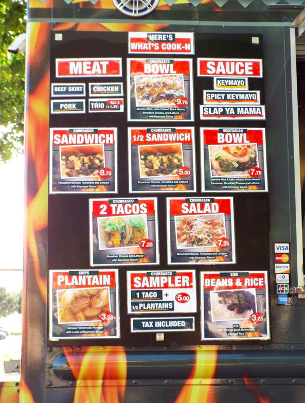 The What's Cook-N Chef Truck's menu